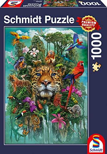 Schmidt Spiele 58960 König des Dschungels, 1.000 Teile Puzzle