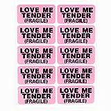 Love Me Tender Aufkleber, 1x2' 100pcs