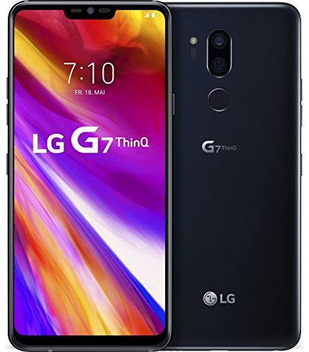 LG G7 ThinQ Smartphone (15,47 cm (6,1 Zoll) FullVision LCD Display, 64GB interner Speicher, 4GB RAM, einstellbare Notch, IP68, MIL-STD-810G, Android 8.0) Schwarz