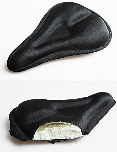 Rivestimento in silicone imbottitura rivestimento sella per bicicletta bici bicicletta sella coperta rivestimento sella Gel per bici