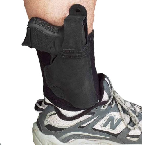 GALCO AL286B Ankle Lite Right Hand Black Ankle Holster