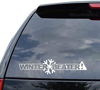 DiamondCutStickerz Winter Beater Japanese JDM Decal Sticker Car Truck Motorcycle Window Ipad Laptop Wall Decor - Size (14 inch / 36 cm Wide) - Color (Matte White)