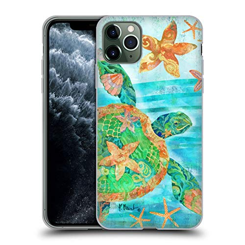 Officiële Paul Brent Nassau Schildpad Kust Soft Gel Case Compatibel voor Apple iPhone 11 Pro Max