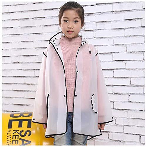 Imperméable pour enfants Guyuan Manteau Mode coréenne Enfants Mignons Garçons et Filles Bébé imperméable Cartoon (Color : Pink, Size : M)