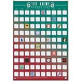 Gift Republic 100 Anime Classic Bucket List Scratch Off