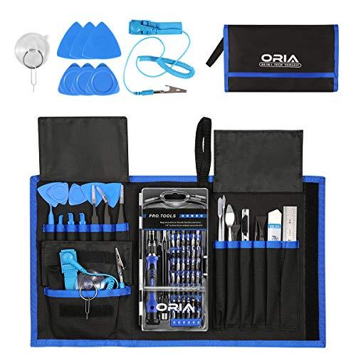 Oria 84 in 1 Schraubendreher Set, Magnetic Präzisions Reparatur Werkzeug mit 57 Bits, Feinmechanik Werkzeug - Blau