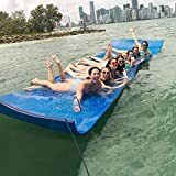 Max4out 18x6 Floating Water Mat 3 Layer Recreational Floating Foam Pad Adults Kids Lily Pad Lake Mat Used in Ocean Lake Blue