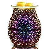 ExH 3D Aroma Lamp, 3D Glass Aroma Lamp Candela elettrica Umidificatore Luce Aroma Lamp Diffusore Aroma Lamp Burner Bruciatore a nafta elettrico Regalo di San Valentino per fidanzata