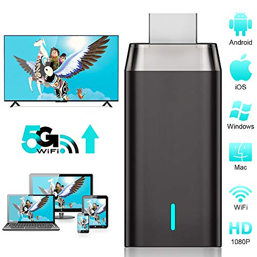 Miracast HDMI WiFi Inalámbrico Dongle, DIWUER 5G / 2.4G HDMI 1080P Adaptador de Receptor para Android / iPhone / iPad / Windows / Proyector / Monitor, Unterstützung Miracast DLNA Airplay