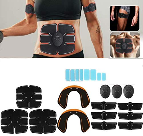 32PCS/Set Combo Full Body Fitness EMS Trainer Hip Butt Lifter Buttocks Enhancer Muscle Training Abs Workout Slimming Perfect Sexy Body Shaper Kit Muscle Training Gear Hip Buttocks Lifting Stimulator
