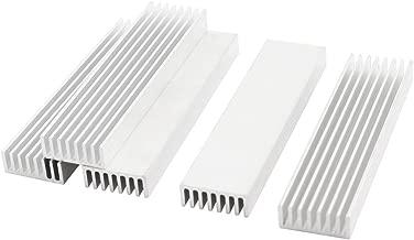 Uxcell a14111400ux0242 5 Pcs Silver Tone Aluminium Radiator Heatsink Heat Sink 100x25x10mm (Pack of 5)