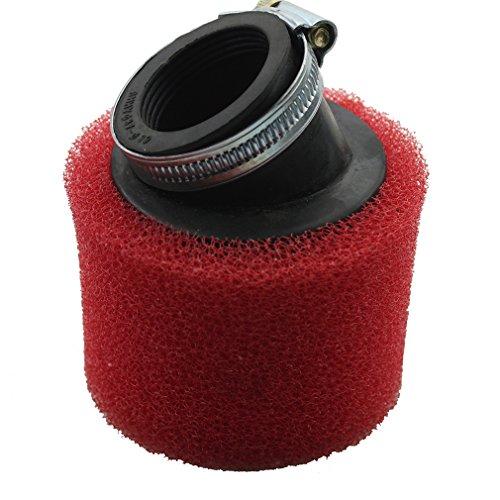GOOFIT Red 38mm Gebogender Luftfilter mit Schaum f¨¹r Pod Pitbike Quad Dirtbike ATV Buggy