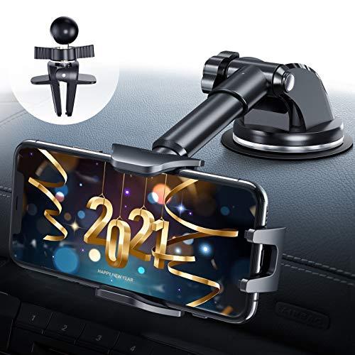 DesertWest Handyhalterung Auto für sämtliche Größen geeignet, Stabiler und Stylischer Handyhalter fürs Auto Lüftung & Saugnapf KFZ Handyhalterung Smartphone für iPhone/Samsung/Huawei/Xiaomi/LG usw.