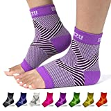 Planter Fasciated Socks Ankle Sleeve Compression Support Foot Wraps for Pain Foot Pain Relief Products for Womens Plantar Fasciitis Socks Mens Nano Socks Plantar Fasciitis Treatment Purple L-XL