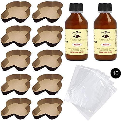 colomba 500gr Kit Stampo per Colomba (10pz - 500gr) + Aroma per Colombe Fraccaro (2pz - 100 ml) + Sacchetto (10 pz)