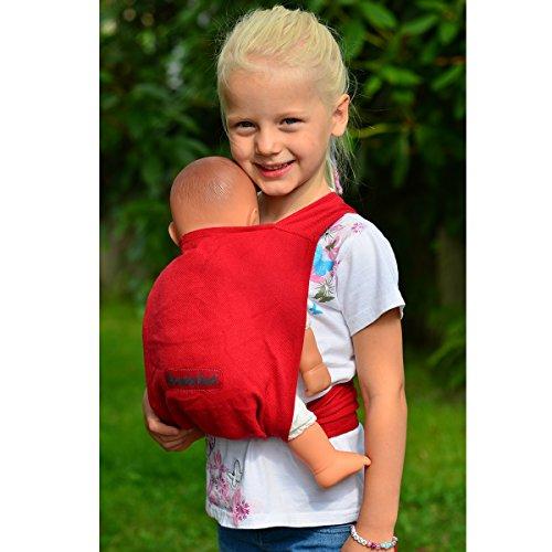 Hoppediz - Portabebés para muñecos, color rojo