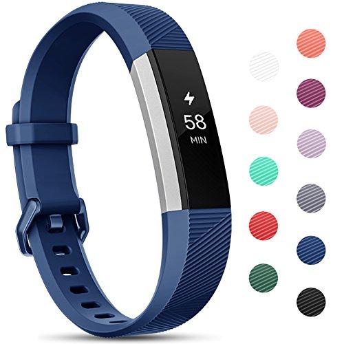 Onedream Compatible para Fitbit Alta HR Correa/Alta Strap/Ace Pulsera Mujer Hombre Recambio Silicona Correa Azul