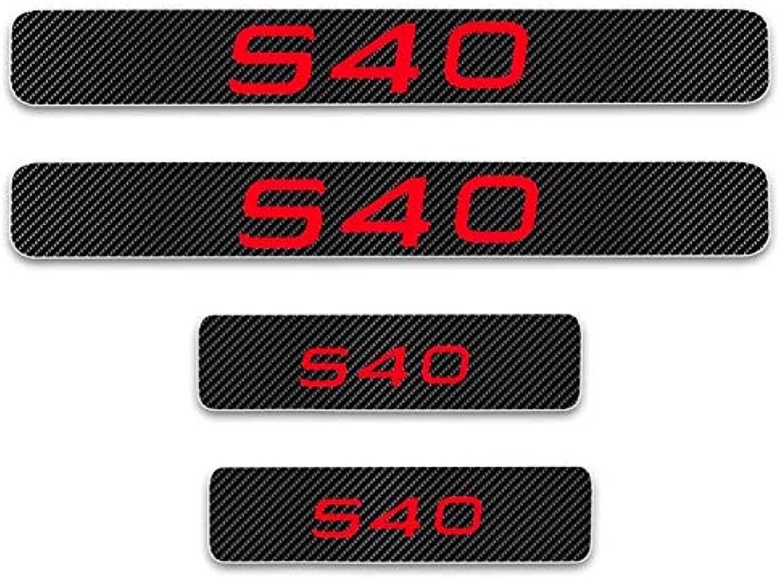 4d Carbon Fiber Vinyl For Volvo S40 Welcome Pedal Stickers Door