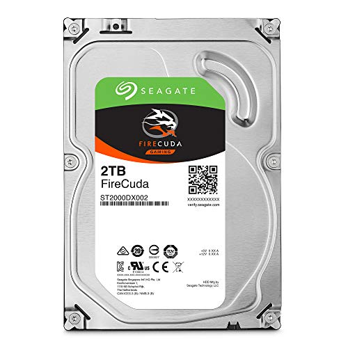 Seagate FireCuda 2TB Solid State Hybrid Drive Performance SSHD – 3.5 Inch SATA 6Gb/s Flash Accelerated for Gaming PC Desktop (ST2000DX002)