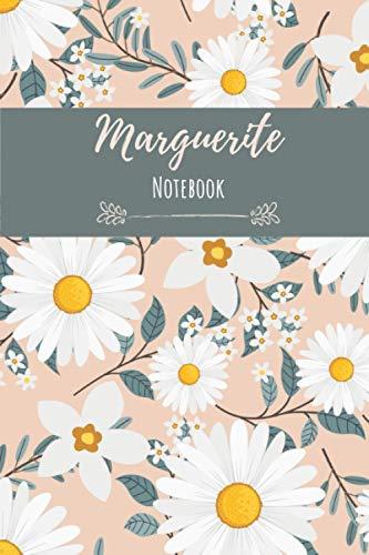 Notebook Marguerite: Fleur Marguerite | Carnet de notes | 110 pages avec intérieur fleuri, 6x9 pouces | Parfait pour un cadeau ou si vous adorez les fleurs !