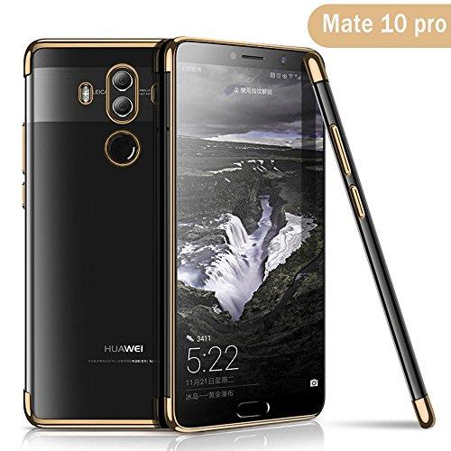 Huawei Mate 10 Pro Hülle, AOLANDER Huawei Mate 10 Pro Handyhülle TPU Case Cover, Leicht Flexible Rugged Armor Hybrid Defender Shockproof Schutzhülle für Huawei Mate 10 Pro (Gold)