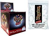 2 Cajas de 50 libritos papel de liar Smoking Blue 70 x 37mm + 4000 filtros Krypton 6mm