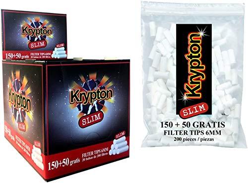 4000 Filtros Krypton 6mm slim para tabac...