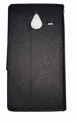 ORC Stylish Mercury Goospery Fancy Diary Wallet Flip Cover for Microsoft Lumia 640 XL (Black)