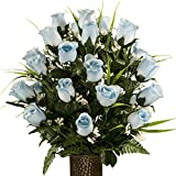 Sympathy Silks Artificial Cemetery Flowers - Realistic - Outdoor...
