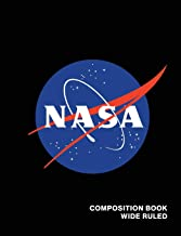 NASA Composition Book Wide Ruled: Officially Licensed Meatball Logo Space Astronaut Astronomy Notebook Journal