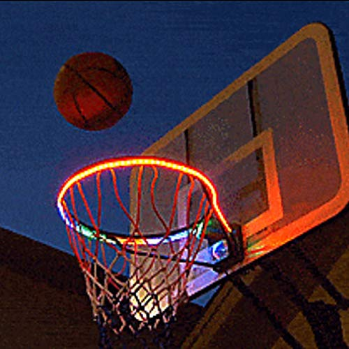 ShangSky Luz de aro LED, borde de baloncesto con iluminación LED para disparar por la noche, barra de luz nocturna de baloncesto para juegos de niños, juguetes al aire libre