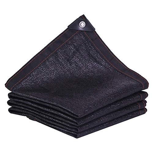 WJJ Toldos Exterior Toldo Camuflaje Paño de Sombra para el cifrado del 90% Espesado Negro Protector Solar sombreado Patio Neto Techo suculents balcón Coche Shade Neto (Color : Black, Size : 5 * 6m)