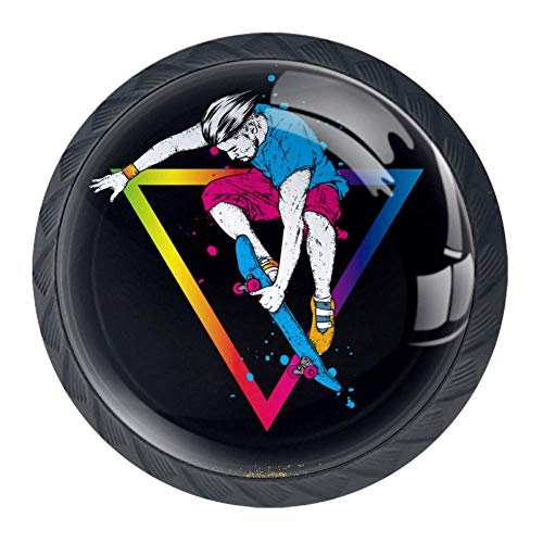 Stijlvolle Skater in Jeans en SneakersMini Knop Kabinet Kast Lade Trekhendel Knop met Schroeven