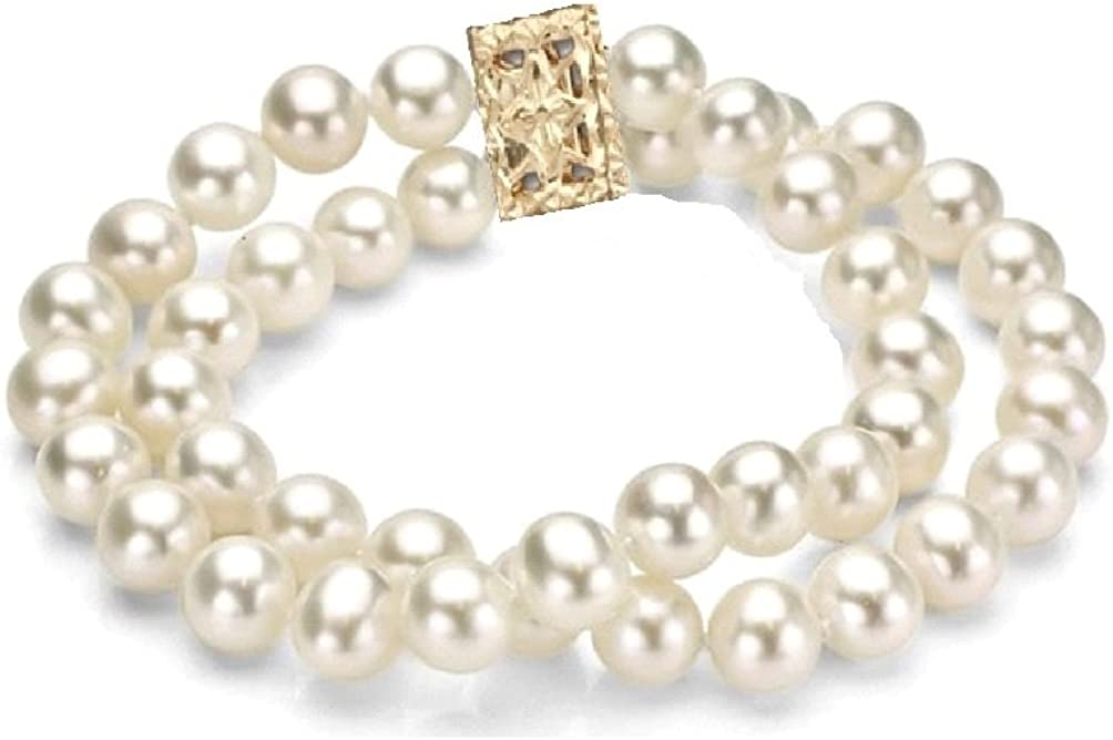 Cultured Max 61% OFF Freshwater Dedication Pearl Double Strand Bracelet Gold Fille with