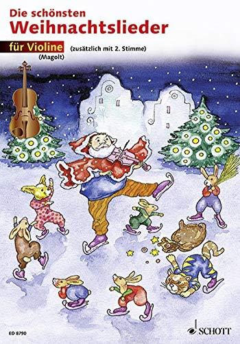 Die schönsten Weihnachtslieder: sehr leicht bearbeitet. 1-2 Violinen.