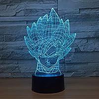 子供用3DムードランプLEDクリエイティブ3DイリュージョンエフェクトUSB充電LEDナイトランプ(16色の家庭用/オフィス用装飾ランプ、タッチテーブルデスクランプ、おもちゃ、ギフト用)