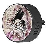 BestIdeas 2 clips de ventilación ambientador de coche con instrumento musical de piano de arte, difusor de aceites esenciales de aromaterapia