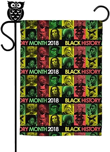 Bandera de jardín clásica Mes de la Historia Negra 2018 Estrella Negra Color Casa Bandera Fiesta Decorativa Patio al aire libre Banderas 30 x 45 cm