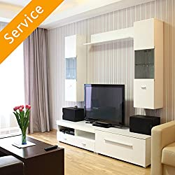 Assembly of 1 customer-supplied entertainment center per instructions Product should be in the room where it is to be assembled before provider arrives. Moving product after assembly is not included Mounting TV on the wall is not included Cleanup wor...
