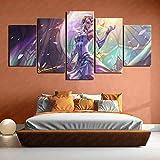 League of Legends Lux Ultimate Skin Pintura original 5 pintura conjunta Impresión 3D HD lienzo Decoración de la sala de estar 200x100cm Sin marco