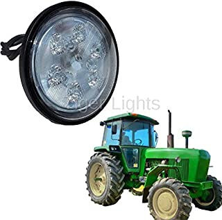 Tractor LED Light - 18W Sealed Round (Fits Allis Chalmers Tractor 160, 175 + | John Deere Tractor 2010, 4050, 4055, 4240, 4250, 4320, 4430, 4450, 4640, 4650, 4755, 4760, 4840, 4850, 4955, 4960 & More)