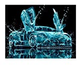 Cool sports car 15D diamond painting art full diamond set, kit de punto de cruz decoración del hogar 40x50cm