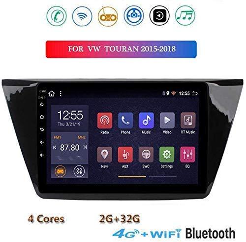 "XXRUG Android 8.1 Stereo GPS Navigations-Radio für VW Touran 2015-2018 9 ""Touch Screen Multimedia-Player Mirrorlink Bluetooth Freisprechfunktionen SWC DAB USB"