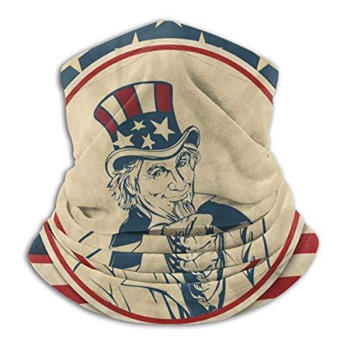 BeiBao-shop Americana Uncle Sam Gesichtsschutz - Gesichtsschal Kopfwickel Halsmanschette Sturmhaube für Outdoor Sports-T5