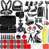 RXMCFKR 258 En 1, Accesorios de Cámara de Acción Kit, Paquete De Deportes Al Aire Libre para YI 4Serie K Serie Sargo XIAOMI XTU Insta 360 dji Bolsillo-Negro