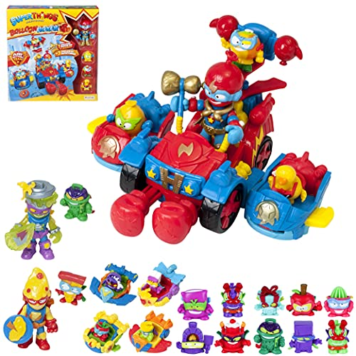 SuperThings Kazoom Kids – Ballon Boxer y Pack Sorpresa 16 Sets | Contiene Ballon Boxer, 10 Sobres One Pack, 4 Kazoom Sliders y 2 Kazoom Kids | Juguetes y Regalos para Niños Cumpleaños