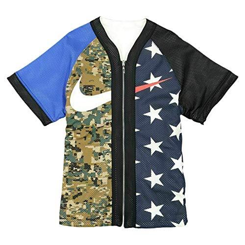 Nike USA/Camo Reversible Baseball Jersey Full Zip Heavyweight Shirt (L)