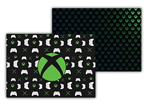 Tovagliette di carta [Confezione da 50 pezzi] formato DIN A3 (42 x 29,7 cm) Sottopentola usa e getta antiscivolo doppio design Xbox per bambini e gamer
