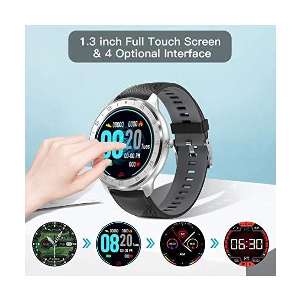 CanMixs Smartwatch, Reloj Inteligente IP67 Pulsera Actividad Hombre y Mujer, CM13 Deportivo Reloj Fitness con Pantalla… 6