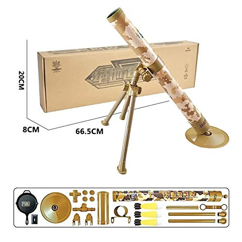 Kids Tactical Toys Set, Taktischer Mörser Mit Launch Sponge Safety Missile, Mit Glow Sound Interessantes Shooting Tactical Toys, Mörser, Weihnachtsgeschenk Geeignet Für Kinder Ab 5 Jahren,Braun